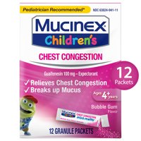 Mucinex Children's Chest Congestion Expectorant Mini-Melts, Bubble Gum - 12 Packets