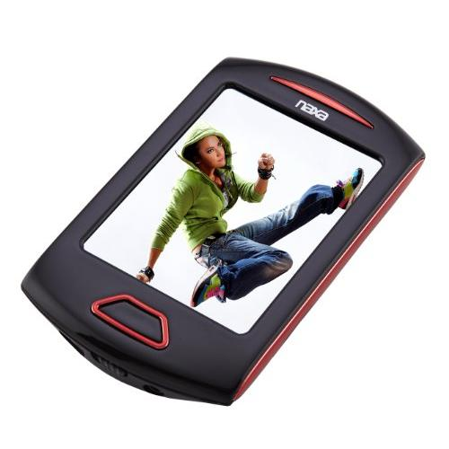 "Naxa Nmv-179 4 Gb Red Flash Portable Media Player - Audio Player, Photo Viewer, Video Player, Camera, Fm Tuner, Memory Card Reader, Voice Recorder, Video Recorder - 2.8"" Active Matrix Tft (nmv179rd)"