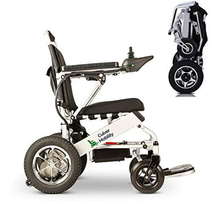 Image of Culver New Model 2020 Fold & Travel Lightweight Motorized Electric Power Wheelchair Scooter, Aviation Travel Safe Electric Wheelchair Heavy Duty Power Wheelchair (Free Wheelchair RAMP Gift)