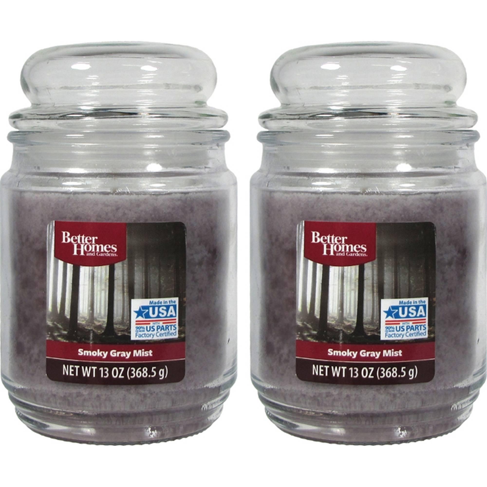 Better Homes & Gardens Jar Candle, Smoky Gray Mist, 13 oz