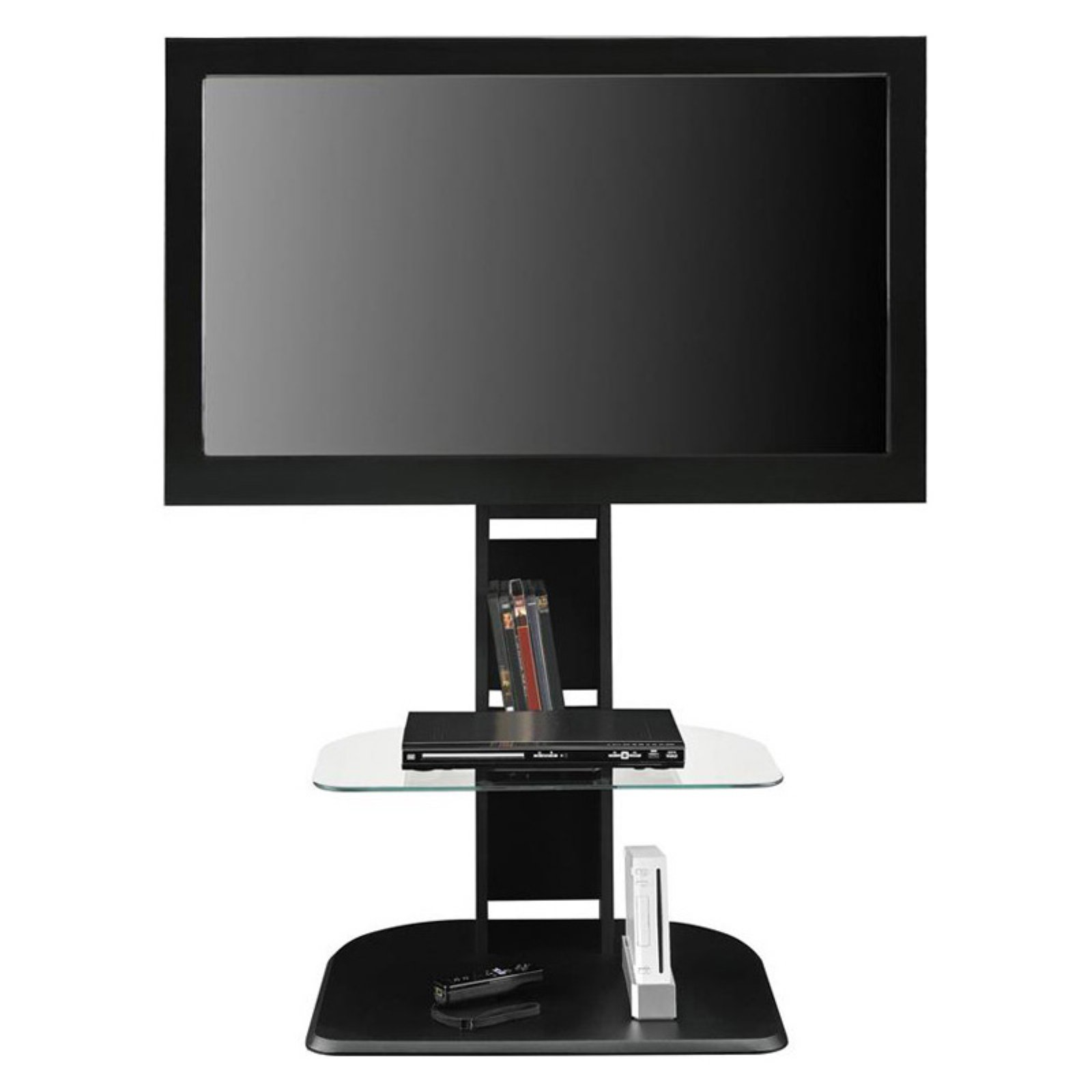 "Ameriwood Home Galaxy TV Stand with Mount for TVs up to 50"", Black"