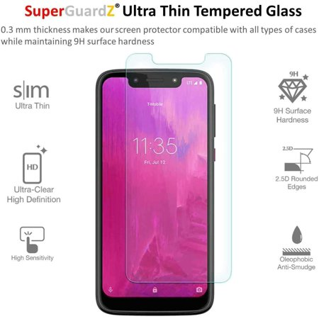 [3-PACK] For T-Mobile Revvlry - SuperGuardZ Tempered Glass Screen Protector, 9H, Anti-Scratch + 2 Stylus Pens - image 4 of 4