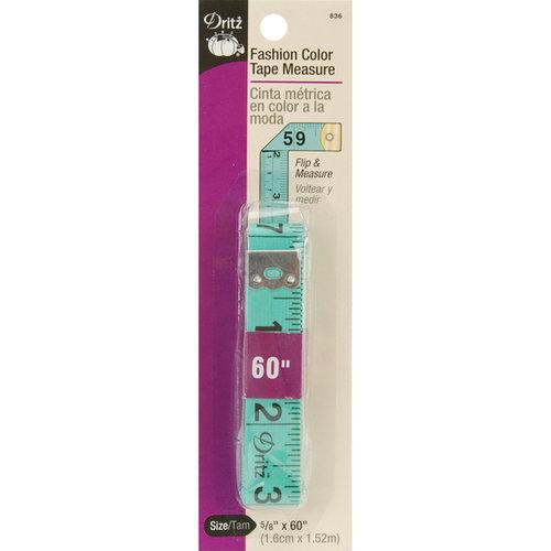 Dritz 642468 Tape Measure-5/8-inch X 60-inch Fashion Colors
