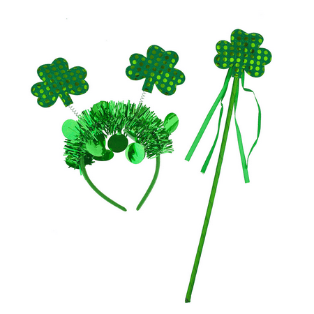 St Patrick's Day Accessories (Lux Accessories Green St. Patrick's Day Parade Shamrock Party Accessory Set)