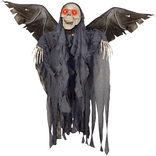 """4'2"""" Animated Winged Reaper Halloween Decoration"""