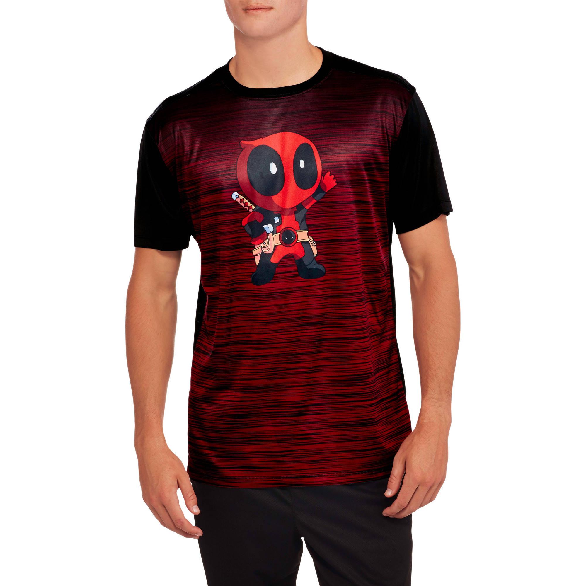 Deadpool Kawaii Big Men's Graphic Poly Tee