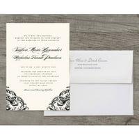 Romantic Scroll Deluxe Wedding Invitation