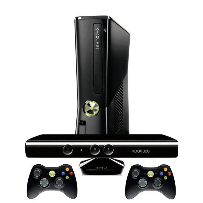 Microsoft Xbox 360 Slim 250GB Console W/ Xbox Kinect, Black (Refurbished)