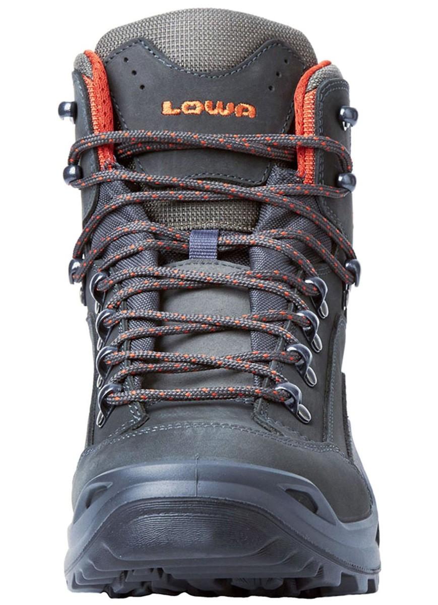 Lowa Men's Renegade GTX Mid Hiking Boot 12 M, Light Grey/Orange