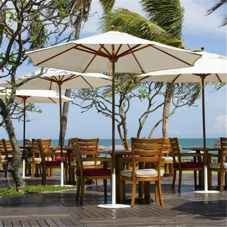 Galtech 9 ft. Teak Designer Umbrella - Papaya Dupione Sunbrella ()