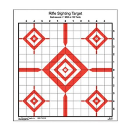 Law Enforcement Targets  Rifle Sighting Target 14x15 Inch Red/Black 100