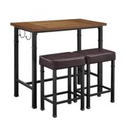 Hawthorne Collection 3 Piece Pub Set in Black by Hawthorne Collections