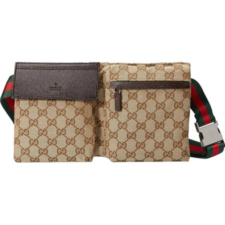 ae731ff00de5 Gucci - PRE-OWNED Sherry Gg Monogram Web Belt Fanny Pack Waist Pouch 230780  Beige Canvas Cross Body Bag - Walmart.com