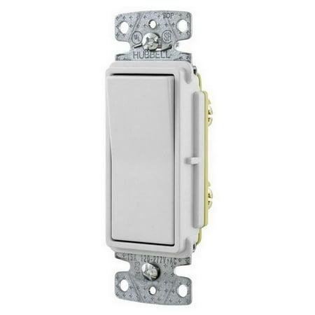 hubbell wiring device-kellems rsd315w wall switch, 3-way, rocker, 15a,  white - walmart com