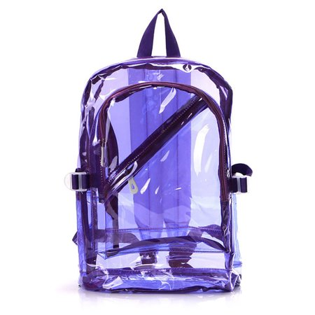 Clear Backpack, Coofit Fashionable Top Handle See Through Transparent Travel Book Bag School Backpack for Girls Women Adult