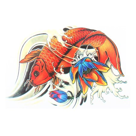 Body Art Fish  Pattern Chinese Style Removable Sticker Temporary - Fish Tatoos