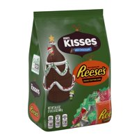 Hershey's, Holiday Milk Chocolate Kisses and Peanut Butter Cup Reese's, 34.6 Oz.