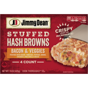 Jimmy Dean Bacon & Veggies Stuffed Hash Browns, 4 Count (Frozen)