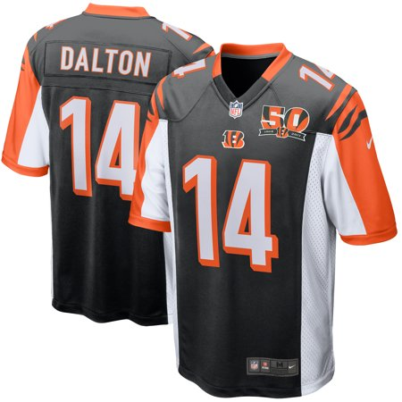 Andy Dalton Cincinnati Bengals Nike 50th Anniversary Patch Game Jersey - - 1997 Anniversary Jersey