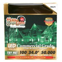 Holiday Bright Lights LEDBX-T5100-MU Christmas LED Light Set, T5, Commercial-Grade, Multi, 100-Ct.