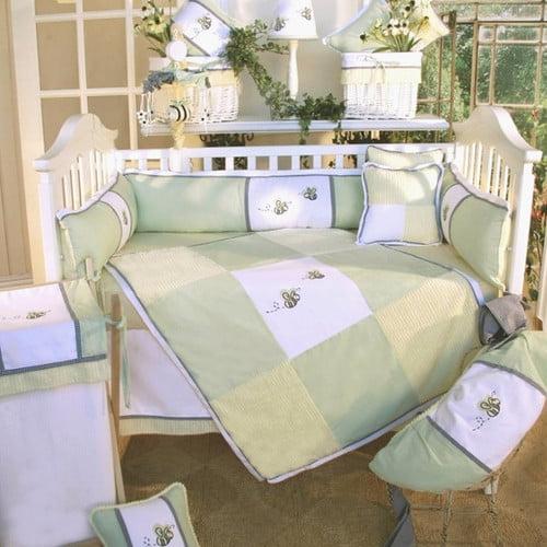 Brandee Danielle Flutter Bees 3 Piece Crib Bedding Set
