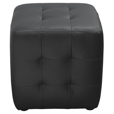 - Diamond Sofa Bonded Leather Tufted Cube Accent Ottoman