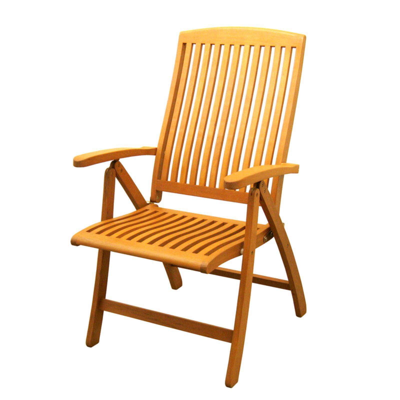 International Caravan Royal Tahiti Saragossa 5 Position Folding Dining Chair - Set of 2
