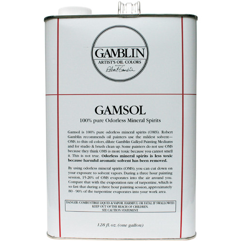 Gamblin G00099 128oz Gamsol Odorless Mineral Spirit