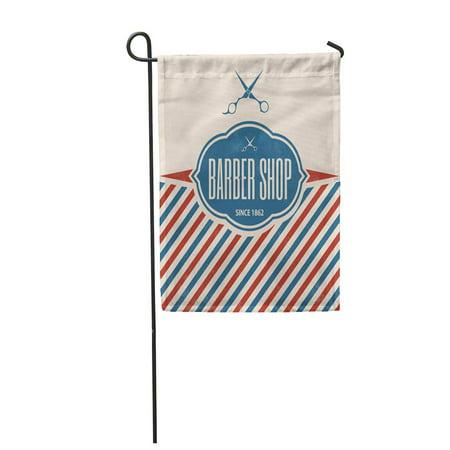 KDAGR Pole Retro Barber Vintage Barbershop Salon Sign Scissors Hair Garden Flag Decorative Flag House Banner 12x18 -