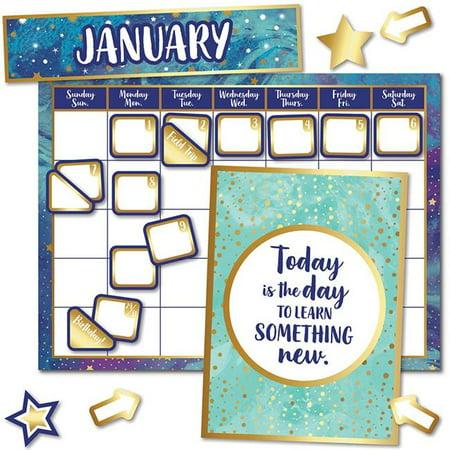 Carson Dellosa CD-110437 Galaxy Calendar Bulletin Board Set - image 1 de 1