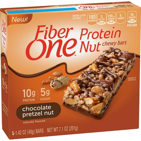- Fiber One Chocolate Pretzel Nut Protein Nut Chewy Bars 5Ct, 7.1 oz