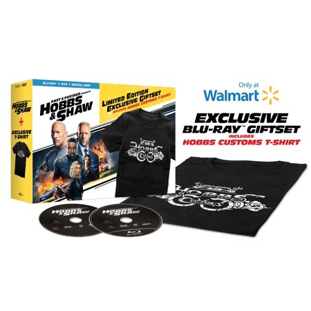 Fast & Furious Presents: Hobbs & Shaw (Walmart Exclusive) (Blu-ray + DVD + Digital Copy + HOBBS Customs T-Shirt size: L) ()
