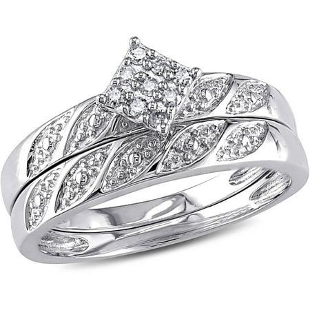 Miabella Diamond-Accent Sterling Silver Bridal Ring Set