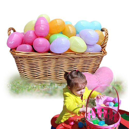72 Piece Easter Egg Set In Assorted Colors - 2 Inch Easter Eggs - Pull Apart To Hide Charms, Candy & More - By Dazzling Toys