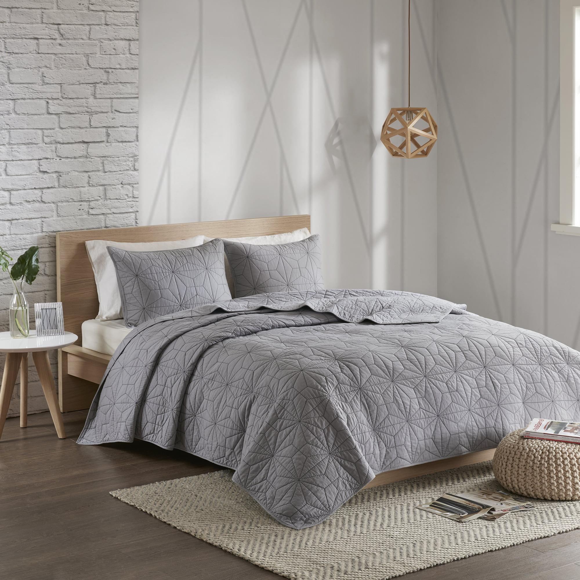 Home Essence Apartment Harper 3 Piece Reversible Cotton Coverlet Set
