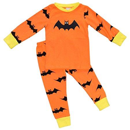 Unique Pajamas For Women (Unique Baby Girls 2-Piece Halloween Bat Pajama Set)
