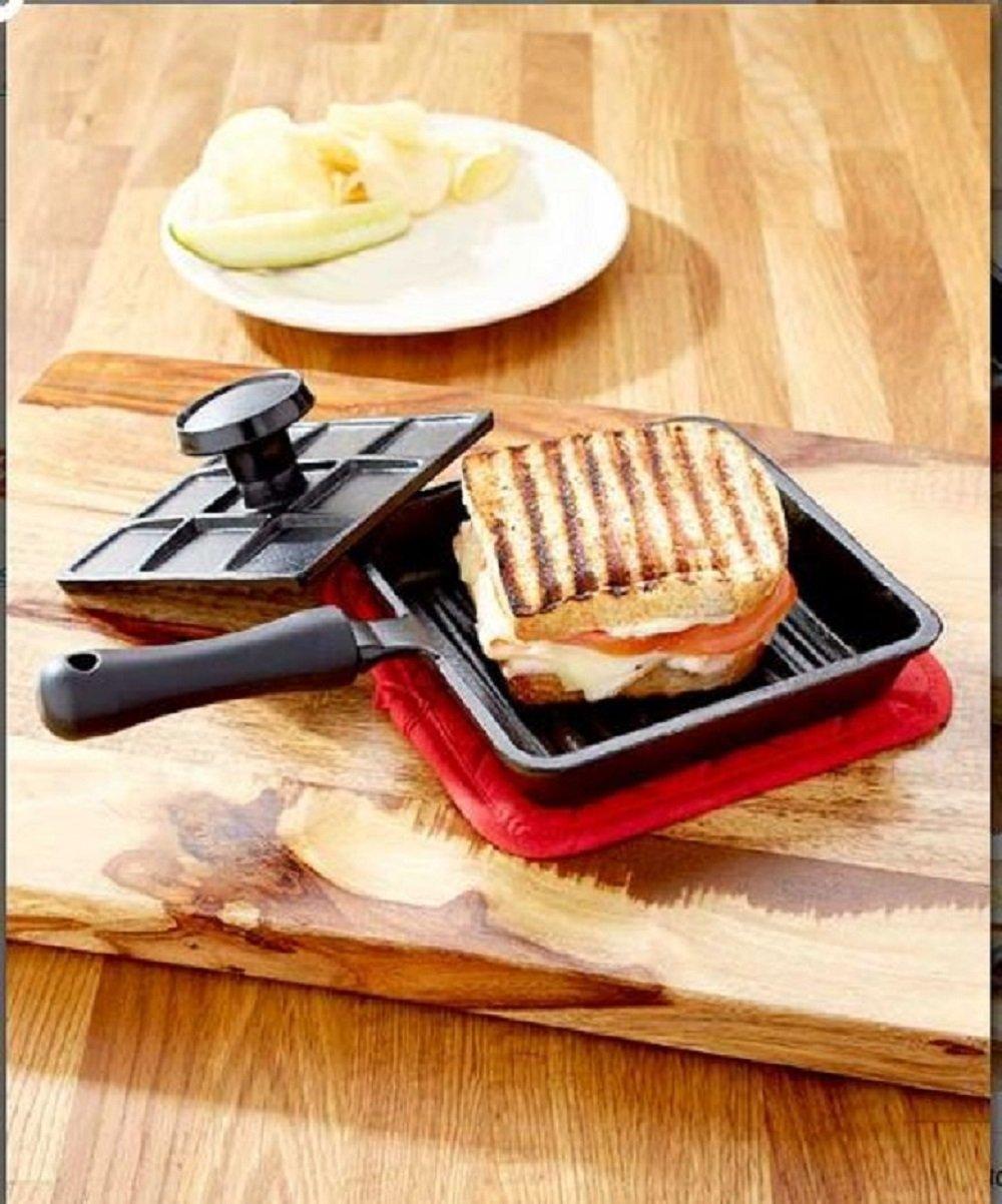 6 In Panini Cast Iron Pan Sandwich Lodge Breakfast Fry Mini Baking Bread With Press Pie Roasting Pancake... by