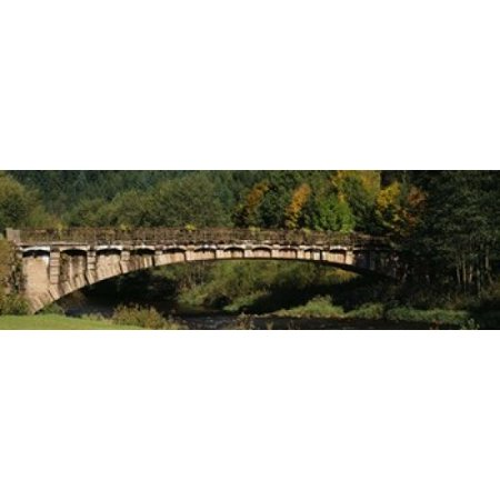 Bridge in a forest Black Forest Germany Canvas Art - Panoramic Images (18 x