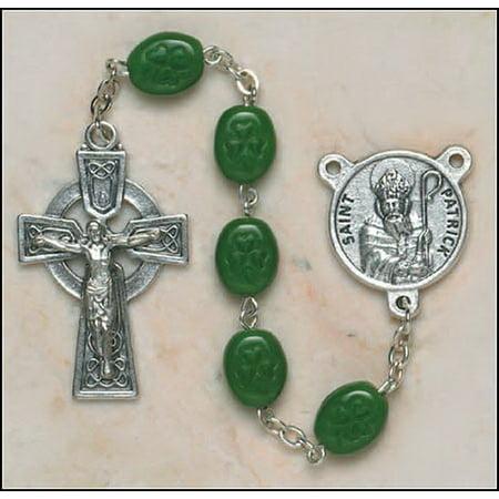 Creed Jewelry SO67SR7644SP Shamrock Bead St Patrick (St Patrick Rosary)
