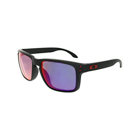 Oakley Men's Mirrored Holbrook OO9102-36 Black Square (Oakley Clear Frame Sunglasses)