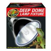 Zoo Med Laboratories 160 Watt Deep Dome Lamp Fixture 8.5 Inch Bottom Diameter