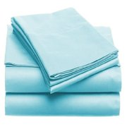 Solid 100GSM Luxury Microfiber Sheet Light Blue -