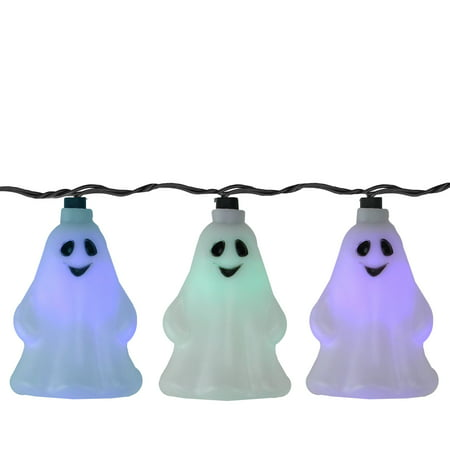 Led Ghost (Set of 10 LED Color Changing Ghost Halloween Lights - Black)