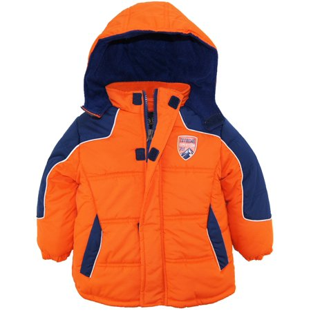 iXtreme Toddler Boy Rip Stop Colorblock Hooded Puffer Winter Jacket Coat