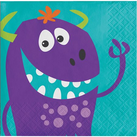 Pack of 192 Multicolored Halloween Fun Monsters Disposable Party Beverage Napkins 5