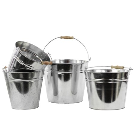 Urban Trends Collection: Metal Bucket Galvanized Finish