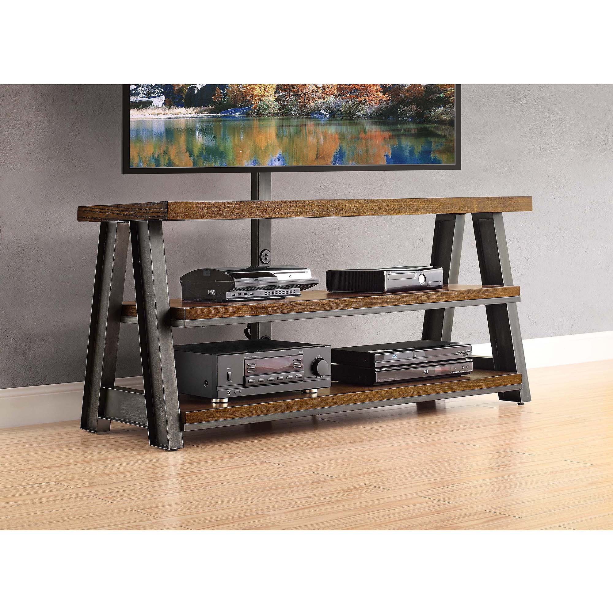Better Homes And Gardens Tv Brown 3 In 1 Mercer Stand For