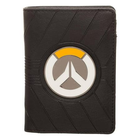 - Overwatch Logo Metal Badge Vertical Bifold Wallet