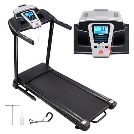 Yescom 2.25HP Folding Electric Treadmill Motorized Running Walking Machine Cardio Trainer with Speaker LCD Display