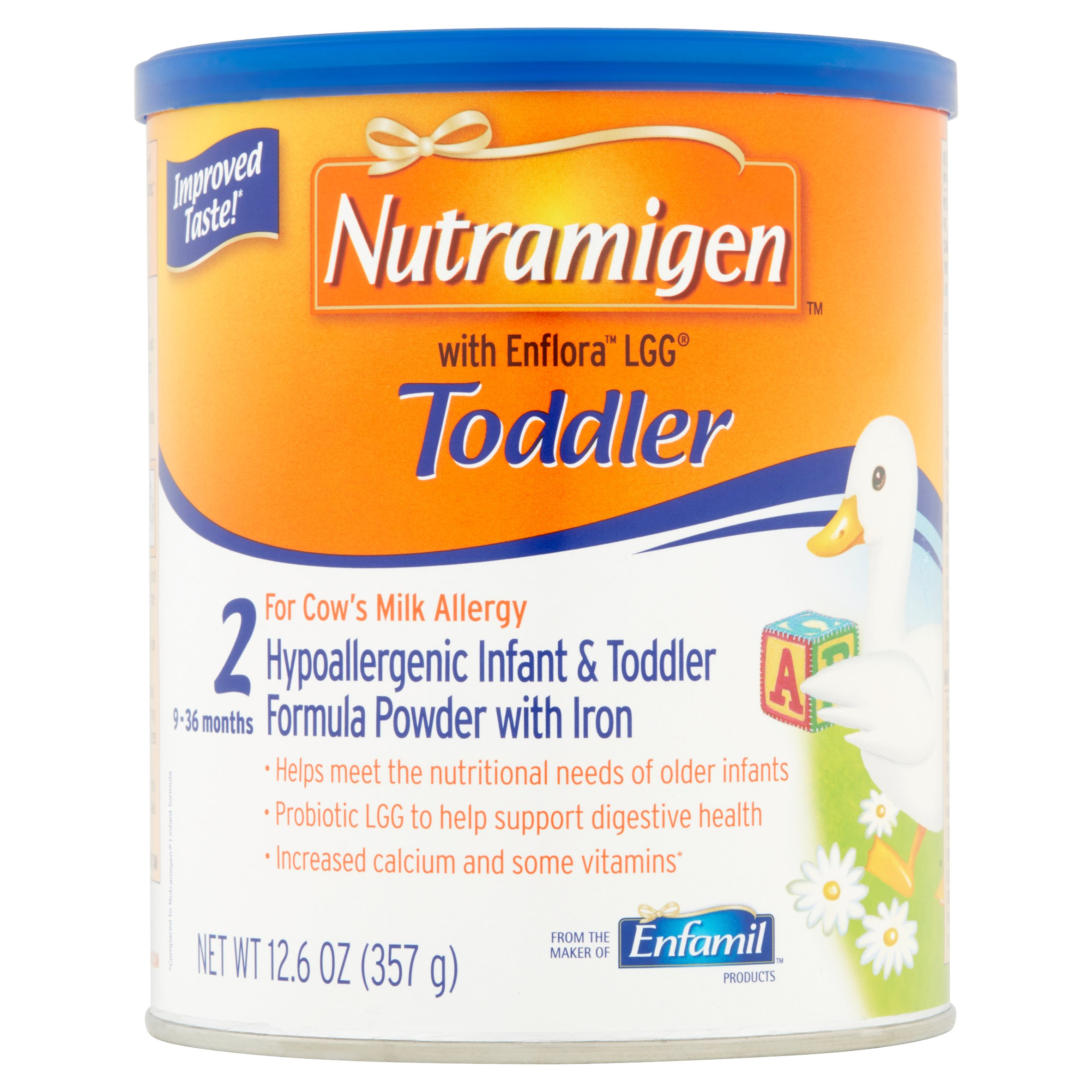 Nutramigen Hypoallergenic Toddler Formula (6 Cans) with Enflora LGG Powder, 12.6 oz Cans by nutramigen